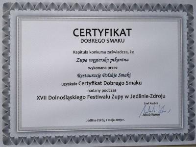 certyfikat dobrego smaku 2